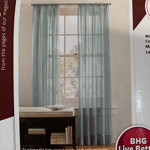 5/$20 Better Homes Sheer Panel Curtain Green